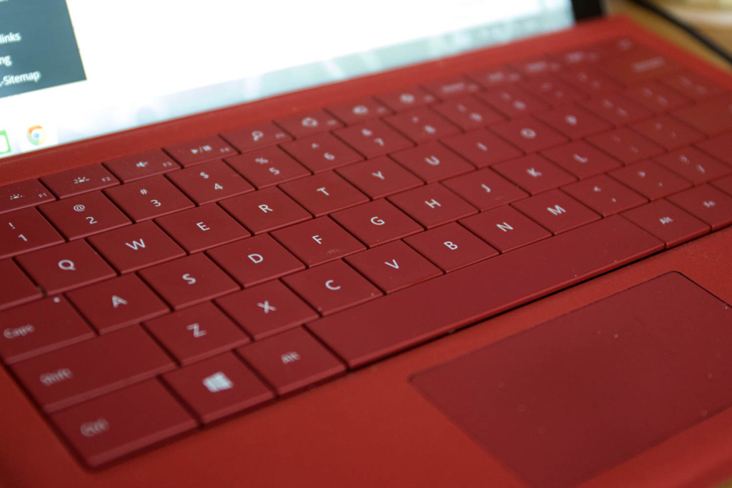 Removable Type Cover for the SP3. Typing on it is really enjoyable.