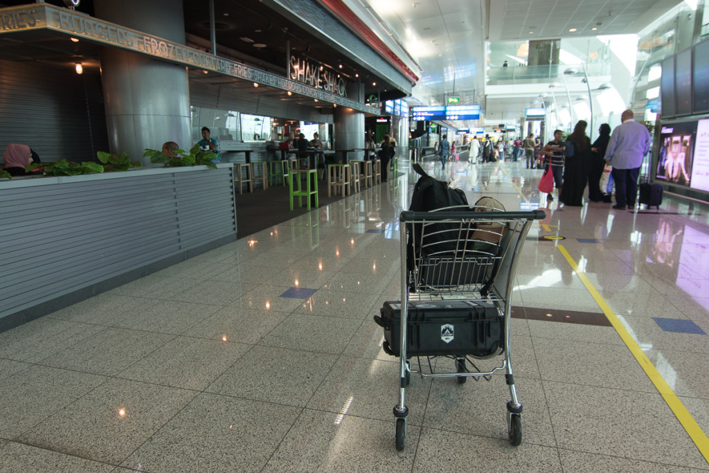Carts, which you can push around the terminal with your bags at your leisure.
