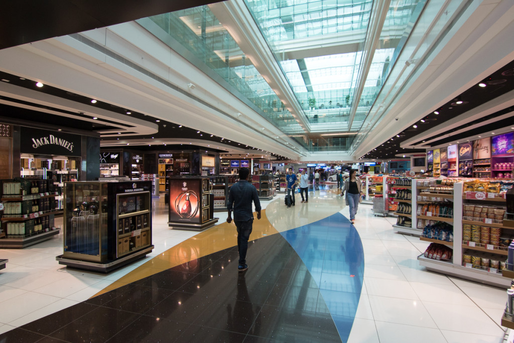 The luxurious and opulent Dubai Airport (DXB)